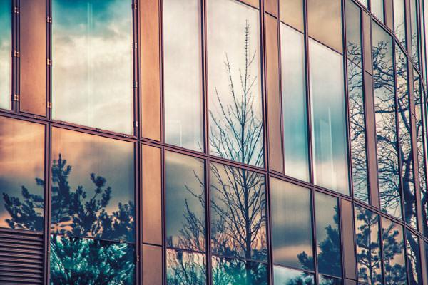 Office building exterior windows